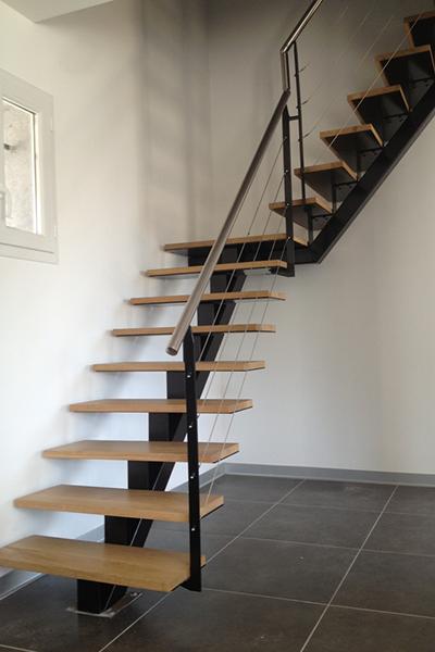 ferronnerie-metallerie-escalier metallique-ferronnerie d'art-metallier-ferronnier